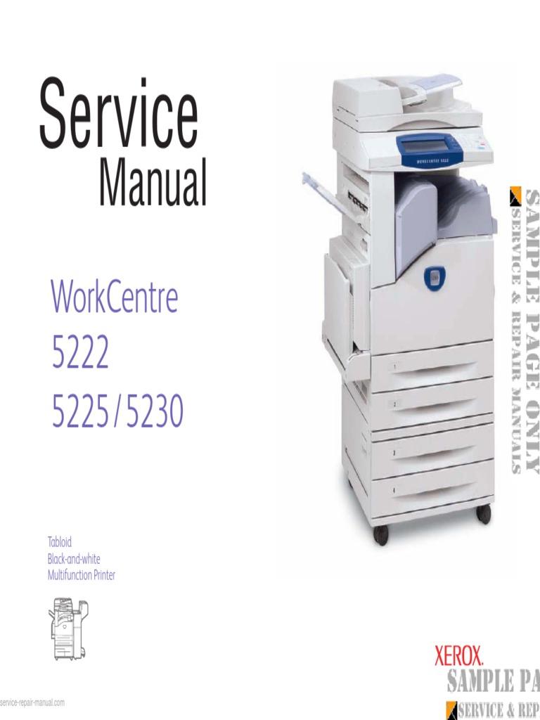 Xerox workcentre 5222 5225 5230 service manual download pdf file transfer protocol image scanner