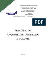 Princípio de Arquimedes - Densidade e Volume