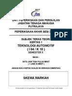 Skima Jawapan Final Exam Tek. Automotif Sem 5 2-2009 (12.8.2009) Teori