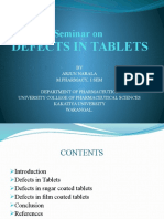 Defects in Tablets