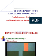 Calcul Fondations Superficielles in Situ