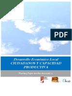 Desarrollo Económico Local. CIUDADANOS Y CAPACIDAD PRODUCTIVA