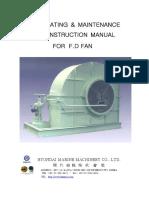 Manual for Forced Draft Fan