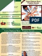 Folder Elaboração Projetos Sociais PDF - Icp - Argos