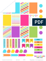 Bold&Bright Planner Stickers VintageGlamStudio