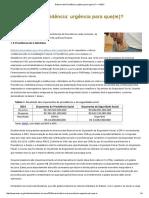 Reforma Da Previdência_ Urgência Para Que(m)