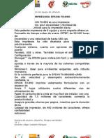 La Impresora EPSON FX2