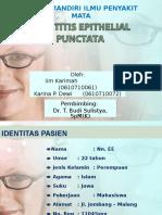 225310773 Keratitis Epithelial Punctata
