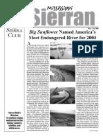 May 2003 Mississippi Sierra Club Newsletter
