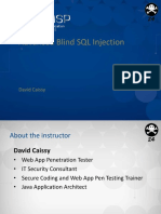 DEFCON 24 Workshop David Caissy Advanced Blind SQL Injection