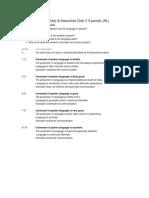 rubrics internal assessments