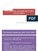 Gen Cl Act 1897