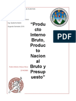 PIB, PNB, Presupuesto