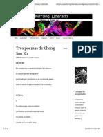 Tres Poemas de Chang Soo Ko