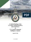 House Report on CENTCOM Intelligence