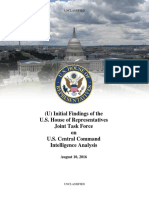 House Report on CENTCOM Intelligence
