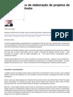 Roteiro didático de elaboração de projetos de pesquisa em Direito