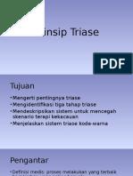 Prinsip Triase Bencana Alam