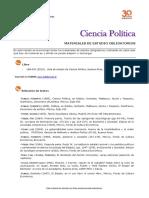 Ciencia Politica Bibliografía  2016