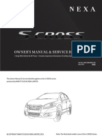S Cross Owners Manual, service interval manual