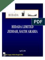 Hidada Presentation - Mar 2016