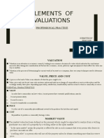 Elements of Valuations