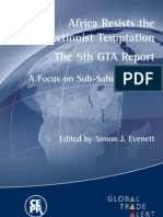 Africa Resists the Protectionist Temptation The 5th GTA Report A Focus on Sub-Saharan Africa