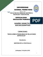 Diseño Didáctico.resolver Problemas de Relaciones Espaciales.dalila