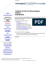Anatomy Review for Neurosurgery