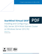 SQL Server 2014 Multi Subnet Cluster 1
