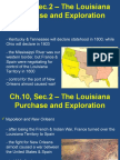 ch 10 sec 2 the louisiana purchase and exploration  1