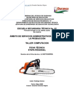 Análisis Objeto Técnico La Motosierra