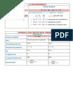 Ecuaciones de Las Cónicas y de Sus Elementos