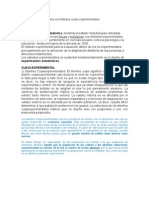 Metodos experimentales vs métodos cuasi- APTE.interne