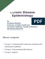 Chronic Disease Epidemiology Dr. Amany