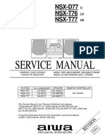 Aiwa Cx-nd77, Cx-nt76, Nsx-d77, Nsx-t76, Nsx-t77 Mini Combo