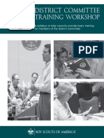 district committee training workshop manual