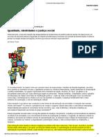 FRASER, N.. Igualdade, Identidades e Justiça Social