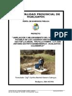 Perfil Ampliacion  y Me.j del Sist Agua Potable Frutillo Pampa