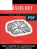 Patrick Doyle 32nd Annual Clinical Aphasiology Conference a Special Issue of Aphasiology