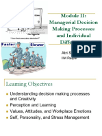 Module II - Managerial Decision Making and Individual Differences