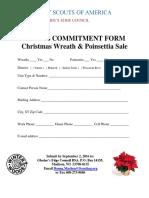 2016 wreath poinsettia  commitment form