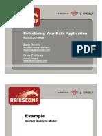 Refactoring Your Rails Application Presentation