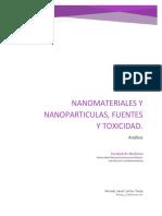 Nanomateriales y Nanoparticulas_Fuentes y Toxicidad