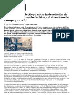 Los Cristianos de Alepo Entre La Desolación de La Guerra, El Consuelo de Dios y El Abandono de Europa y EE.uu
