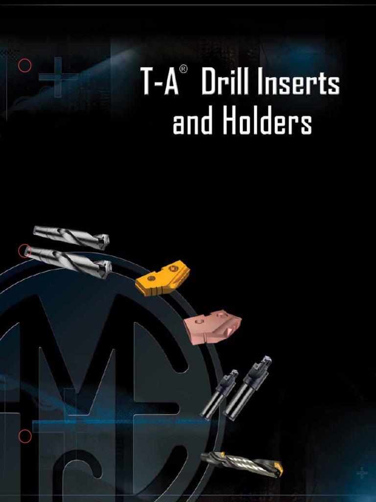 Allied Machine /& Engineering 132T-0108 TiN Coated High Speed Steel Original T-A HSS Drill Insert 1-1//4 Diameter Pack of 2 Series 2