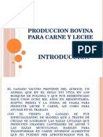 Produccion bovina INTRODUCCION