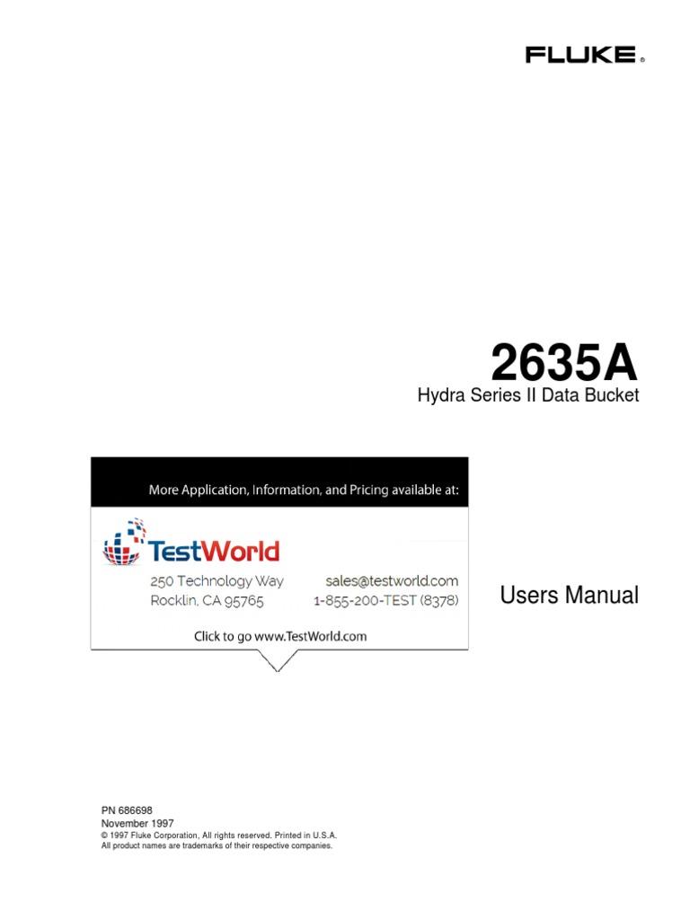 fluke hydra 2635a software download