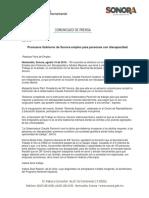 10/08/16 Promueve Gobierno de Sonora empleo para personas con discapacidad -C.081640