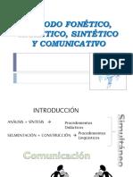 Método fonético de lectoescritura.